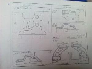1515K织布机墙板零件图册